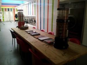 Onze wachtruimte voor een lekker kopje koffie.