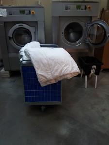 Onze 2 wasmachines voor 24 kg inhoud. Geschikt voor dekbedden, dekens en lits jumeaux.